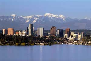 Bellevue skyline from  Lake WA #1