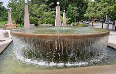 Downtown Park fountain 6-2015